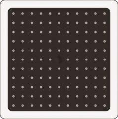 Zwarte Allibert HIP hoofdregendouchekop - 1 jet - zwart - vierkant - 20 x 20 cm