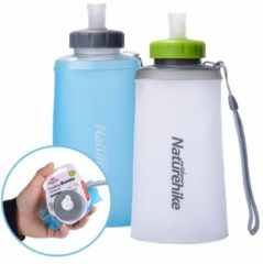 Naturehike NH61A065-B 500ml Folding Silicone Water Bottle Outdoor Sports Drinking Kettle Portable Water Bag