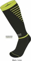 Horizon Sport compressie kousen zwart/groen Small (35-38) Kuit:28-36cm