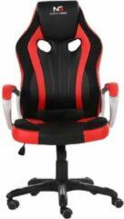 Hioshop Nordic Gaming Challenger gamestoel zwart en rood.