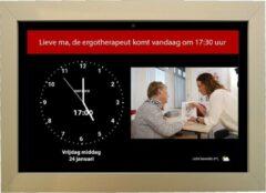 Dayclocks DayClock10 Duo Zwart met Gouden Lijst; Klok/Seniorenklok/Dementieklok met beeldbellen