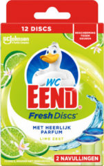 WC Eend Fresh disk lime navul 36 ml 2x36 Milliliter
