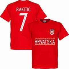 Retake Kroatië Rakitic 7 Team T-Shirt - Rood - XXXL