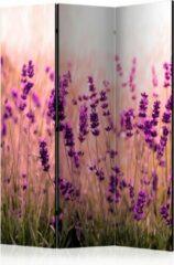 Paarse Kamerscherm - Scheidingswand - Vouwscherm - Lavender in the Rain [Room Dividers] 135x172 - Artgeist Vouwscherm
