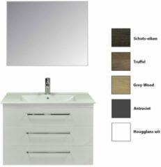 Badkamermeubelset Sanicare Q6 Drie Laden Chromen Greep 100 cm (alle kleuren, spiegel optioneel)