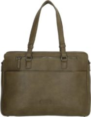 "Enrico Benetti Lily 66450 dames laptoptas/ business tas 14""- Olijf"