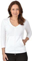 Damen Jacke aus Baumwolle/Elastan Trigema weiss