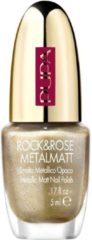 Goudkleurige Pupa milano Rock&rose metalmatt nail polish 001