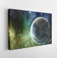 Onlinecanvas Earth in the colorful galaxy fantasy wallpaper. Elements of this image furnished by NASA . - Modern Art Canvas - Horizontal - 1681756525 - 40*30 Horizontal