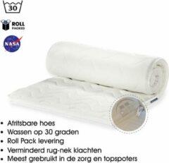 Witte OmRa bedding scandic Topdek Matras - Topper Traagschuim - Nasa - Visco - 110x220cm