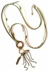 Turquoise Jewellicious Designs Bronze & Beige Boho ketting voor Pink Ribbon