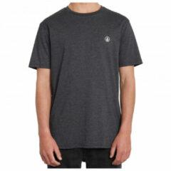 Volcom - Circle Blanks Heather S/S - T-shirt maat S, zwart