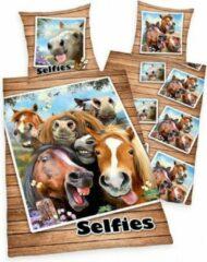 KKS Dekbedovertrek Paarden Selfies Kinderdekbedovertrek 140x200