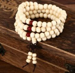 Zwarte Wellness-House | Meditatie Armband-Ketting Creme | Meditatie | Yoga | Meditatie Ketting | Meditatie Armband