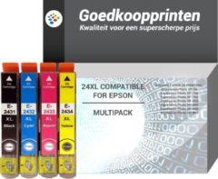 Cyane Goedkoopprinten Epson 24XL inkt cartridge Multipack - Huismerk set