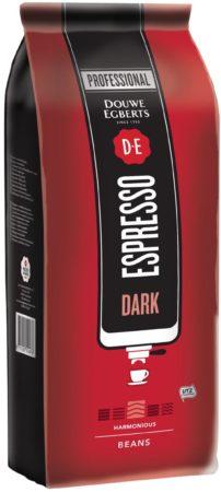 Afbeelding van Douwe Egberts gemalen koffiebonen, espresso Dark, pak van 1 kg