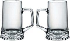 Transparante Bormioli Rocco 2x Bierglazen/bierpullen 510 Ml - Bier Pullen 2 Stuks