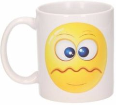 Shoppartners Schele smiley mok 300 ml - emoticon beker