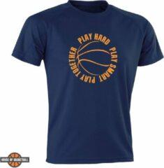 HoB Play Hard, Play Smart, Play Together T-shirt – marineblauw – XXS
