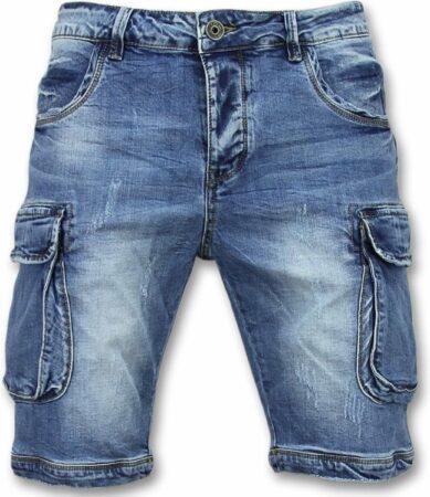 Afbeelding van Enos Korte Spijkerbroek Mannen - Shorts Heren Spijker - J981 - Blauw Heren Jeans W28