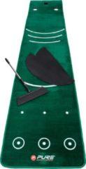 Groene Pure2Improve Golf Putting Mat met Vleug 70 x 335cm