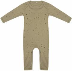 Little Indians Jumpsuit Dots Junior Katoen Groen/zwart Maat 62