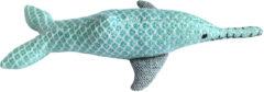 Blauwe Resploot Ganges Dolfijn - Duurzaam Hondenspeelgoed - 29 X 13 X 6 cm Assorti
