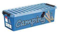 Sunware Q-Line CampingBox - 9,5L - met inzet met vakerverdeling - blauw/transparant