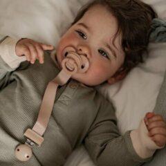 Kaki Elodie Details - Speenkoord Hout - Fopspeenketting - Baby - Pure Khaki