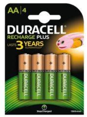 Duracell Oplaadbare Batterijen AA - NiMH - 1300 mAH 1.2 V / Stilo Mignon / HR6 DC1500 4 stuks