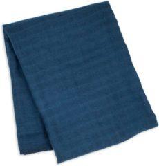Blauwe Lulujo Bamboe Swaddle Inbakerdoek - 120x120 - Navy