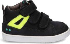 BunniesJR Patrick Pit Jongens Sneakers - Maat 23 - Zwart - Sneakers - Stap Bunnies - Leer - Klittenband - Kindersneakers/Kinderschoenen