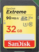 SanDisk 32GB 90MB/s Extreme UHS-I SDXC Geheugenkaart (SDSDXVE-032G)