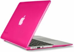 Roze Speck Seethru - Laptop Cover / Hoes voor MacBook Air 11 inch - Hot Lips Pink