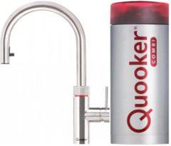 Roestvrijstalen Quooker Flex Kokendwaterkraan met Combi Reservoir 22XRVS, RVS