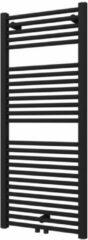 Plieger Palmyra designradiator horizontaal middenaansluiting 1175x500mm 580W donkergrijs structuur 7255485