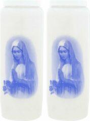 Enlightening Candles 2x Witte noveenkaarsen 6 x 18 cm 9 dagen - Noveenkaarsen - Gedenkkaarsen - Graflichten/herdenkingslichten