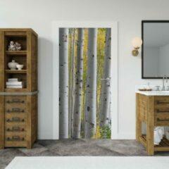 Groene Wallstation Deursticker Bossen 9 - 100 x 250 cm - Gratis installatie-kit - Snelle levering