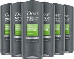 Dove Men+Care Dove Men + Care Extra Fresh - 250 ml - Douche Gel - 6 stuks - Voordeelverpakking