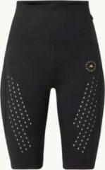 Adidas by Stella Mccartney High waist fiets/sportbroek met mesh - Zwart - Maat XS