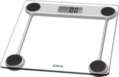 Transparante Clatronic PW3368 Digitale Glazen Weegschaal