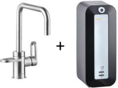 Kokendwaterkraan HotSpot Adrianna Stainless Steel Effect Inclusief 8 Liter Boiler