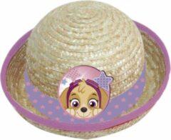 Creme witte Nickelodeon Zonnehoed stro Paw Patrol meisjes creme maat 50