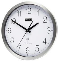 Balance Time klok radiosynchrone. batterijb HI-TECH, di 50mm, diam 300mm