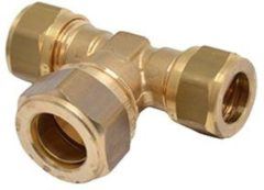 Bonfix Knel t-stuk 15mm voor gas waterleiding of cv-buis |