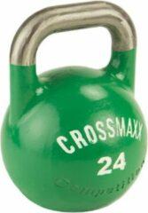 Zwarte Crossmaxx® Competitie kettlebell 24kg, groen
