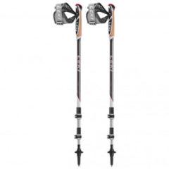 Leki - Traveller Alu - Stokken voor nordic walking maat 90 - 130 cm, dunkelanthrazit / neonrot