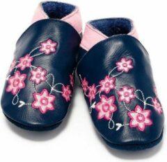 Baby Dutch Babyslofjes blauw met bloem