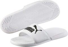 Witte PUMA Popcat Unisex Slippers - Puma White-puma Black Maat 44.5
