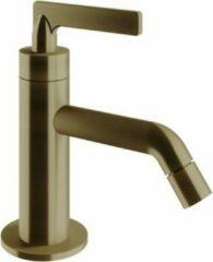 Vtwonen baden Grip fonteinkraan met hendel bronze